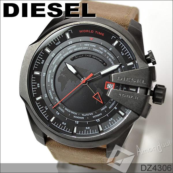 DIESEL メガチーフ ディーゼル ミリタリー腕時計ワールドタイム メンズ DZ4306 マスターチーフ