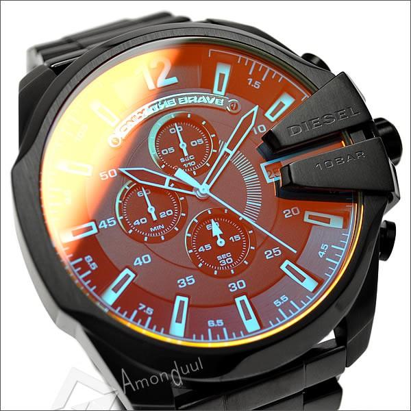 【送料無料】ディーゼル DIESEL 腕時計 メンズ DZ4318 クロノグラフ レザーベルト メガチーフ メンズ腕時計 時計 男性用 ディーゼル/DIESEL 人気モデル レア 誕生日プレゼント・クリスマス