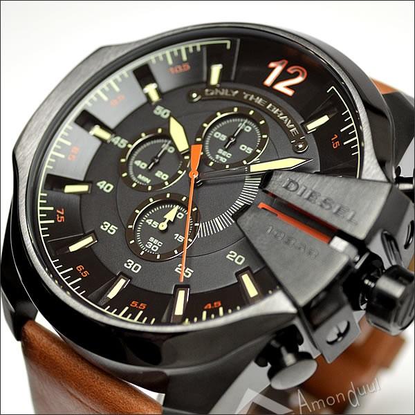 【送料無料】ディーゼル DIESEL 腕時計 メンズ dz4343 クロノグラフ レザーベルト メガチーフ メンズ腕時計 時計 男性用 ディーゼル/DIESEL 人気モデル レア 誕生日プレゼント・クリスマス