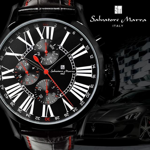 【腕時計ランキング上位ブランド】Salvatore Marra 腕時計 メンズ マルチカレンダー搭載 ビッグフェイス メンズ腕時計 男性 紳士用 メンズウォッチ サルバトーレマーラ 腕時計 プレゼント・ギフト【腕時計】【新作モデル】クリスマス