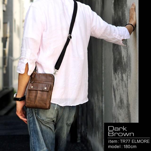 シザーケース ガジェットケース ミニショルダーバッグ ボディバッグ メンズ TRICKSTER トリックスター バッグ ミニバッグ ミニショルダー タブレット収納可 コンパクト ヴィンテージ カジュアル PVC フェイクレザー 男性用 紳士用 プレゼント 鞄