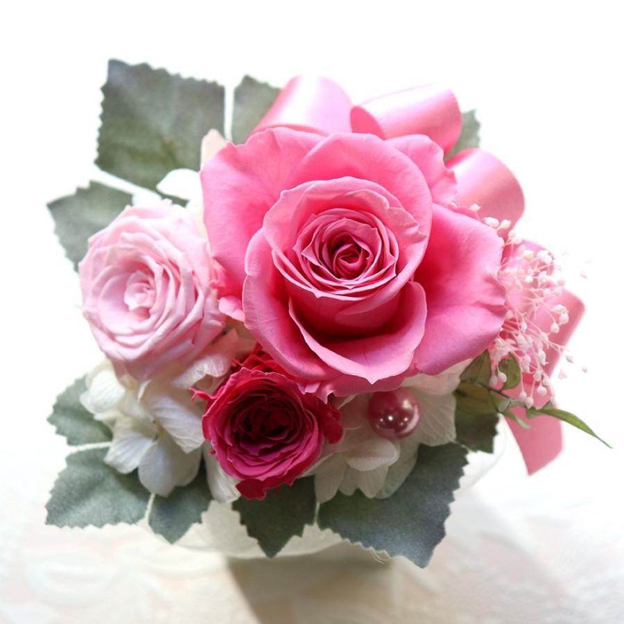 プリザーブドフラワー プレゼント   母の日  2021  花 誕生日プレゼント  女性  退職祝い 結婚祝い 結婚式 電報  初めてのプリザ|ampoule-shop|17