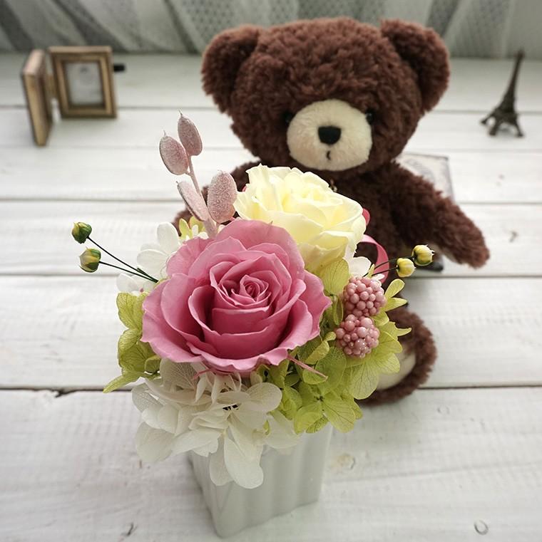 テディと花