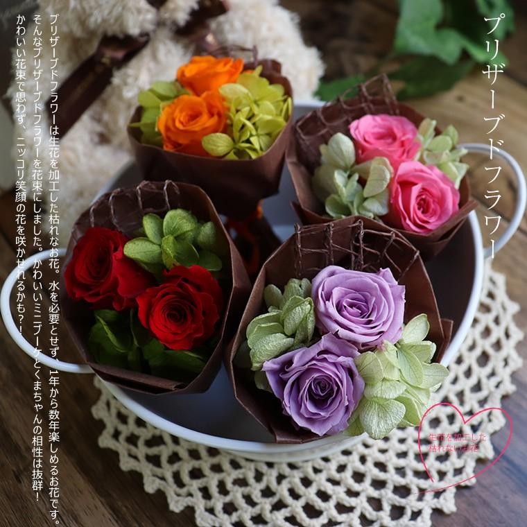 テディベア くま ぬいぐるみ セット ホワイトデー 誕生日 結婚祝い プリザーブドフラワー 花