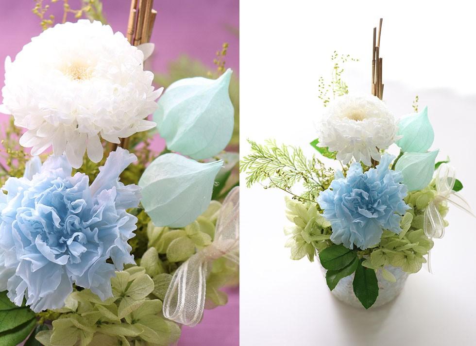 喪中はがきが届いたらプリザーブドフラワーの花を喪中見舞いに。