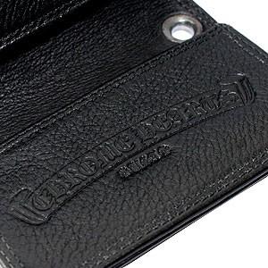 クロムハーツ 財布(chrome Hearts)カードケース#2 Grmt スクロールブラック ヘビーレザー