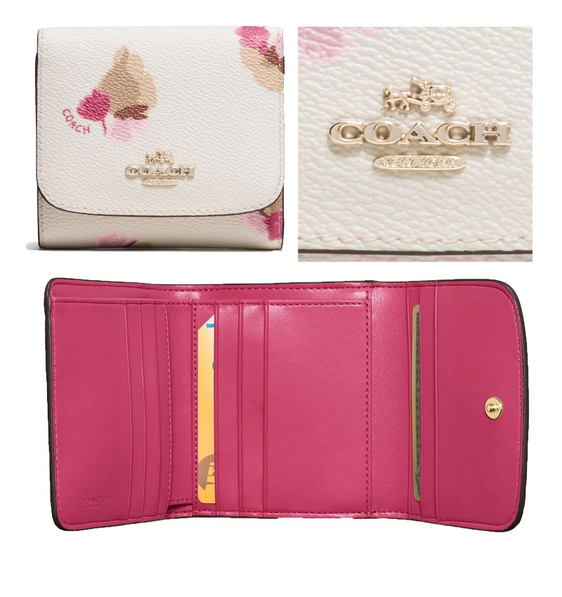 finest selection 6b5eb dc1d9 COACH コーチ SMALL WALLET in Floral Print フローラルプリント ...