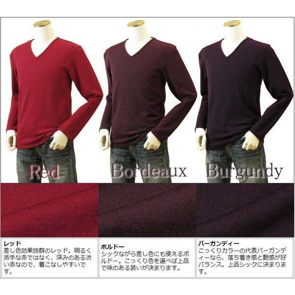 メンズ Vネックニット キャッシュウール100%セーター 日本製 イタリア糸 送料無料 トップス amu 11
