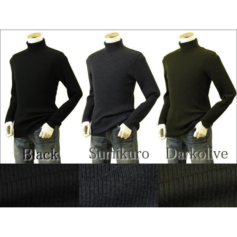 メンズ リブタートルネックニット キャッシュウール100%セーター 日本製 イタリア糸 送料無料 トップス|amu|11