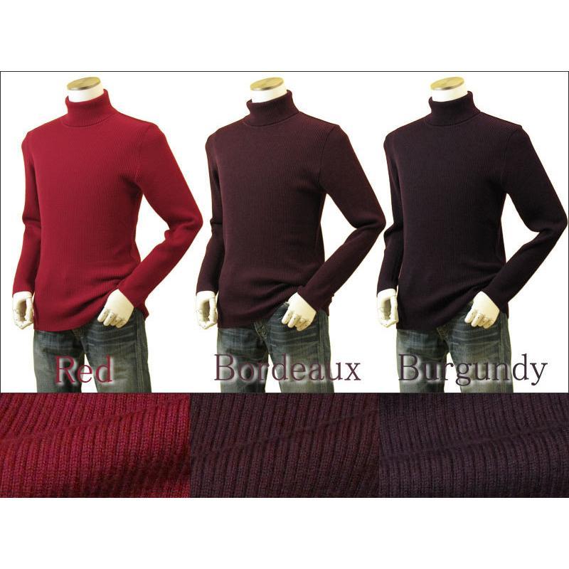 メンズ リブタートルネックニット キャッシュウール100%セーター 日本製 イタリア糸 送料無料 トップス|amu|13