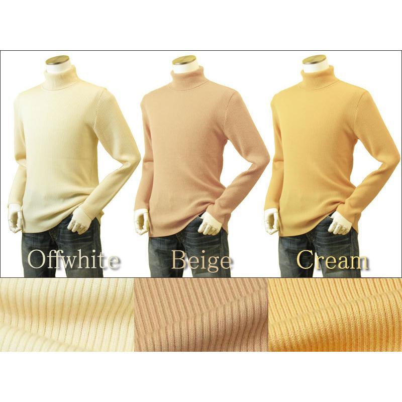 メンズ リブタートルネックニット キャッシュウール100%セーター 日本製 イタリア糸 送料無料 トップス|amu|14