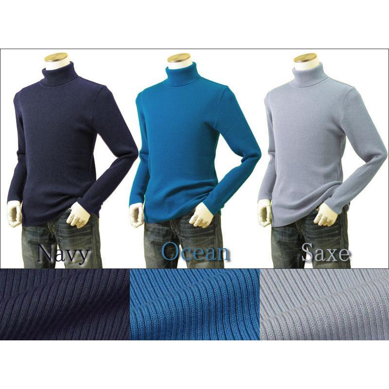 メンズ リブタートルネックニット キャッシュウール100%セーター 日本製 イタリア糸 送料無料 トップス|amu|15