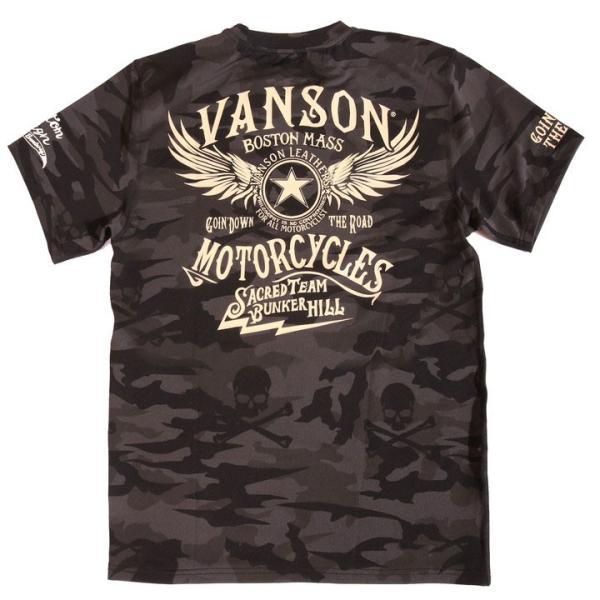 当店別注!VANSON バンソン 新作 吸汗速乾 ドライ半袖Tシャツ ACV-901 スタンダードサイズ|anch-crash|24
