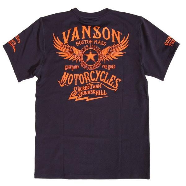 当店別注!VANSON バンソン 新作 吸汗速乾 ドライ半袖Tシャツ ACV-901 スタンダードサイズ|anch-crash|26