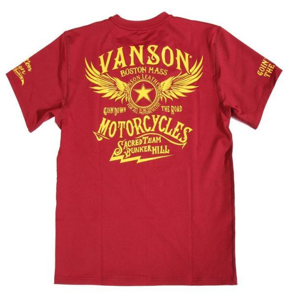 当店別注!VANSON バンソン 新作 吸汗速乾 ドライ半袖Tシャツ ACV-901 スタンダードサイズ|anch-crash|27