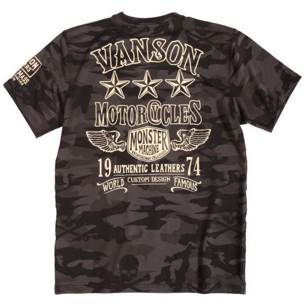 当店別注!VANSON バンソン 新作 吸汗速乾 ドライ半袖Tシャツ ACV-902 スタンダードサイズ|anch-crash|24