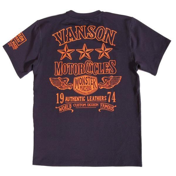 当店別注!VANSON バンソン 新作 吸汗速乾 ドライ半袖Tシャツ ACV-902 スタンダードサイズ|anch-crash|26