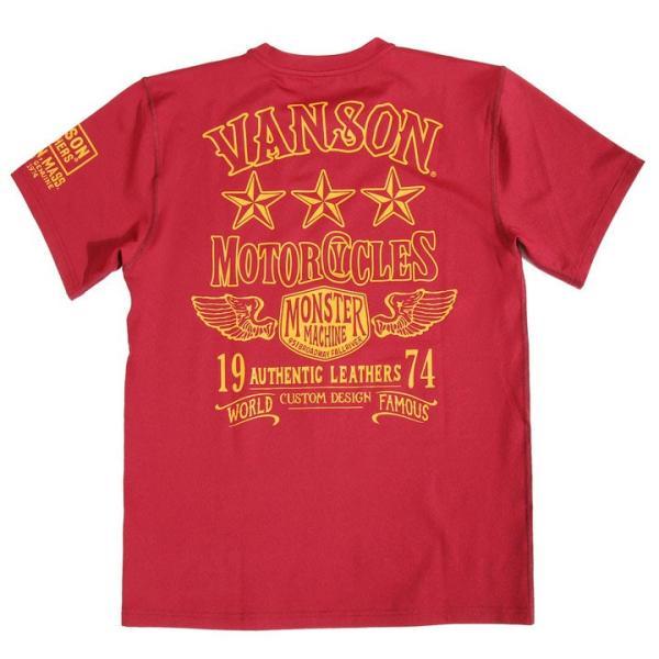 当店別注!VANSON バンソン 新作 吸汗速乾 ドライ半袖Tシャツ ACV-902 スタンダードサイズ|anch-crash|27
