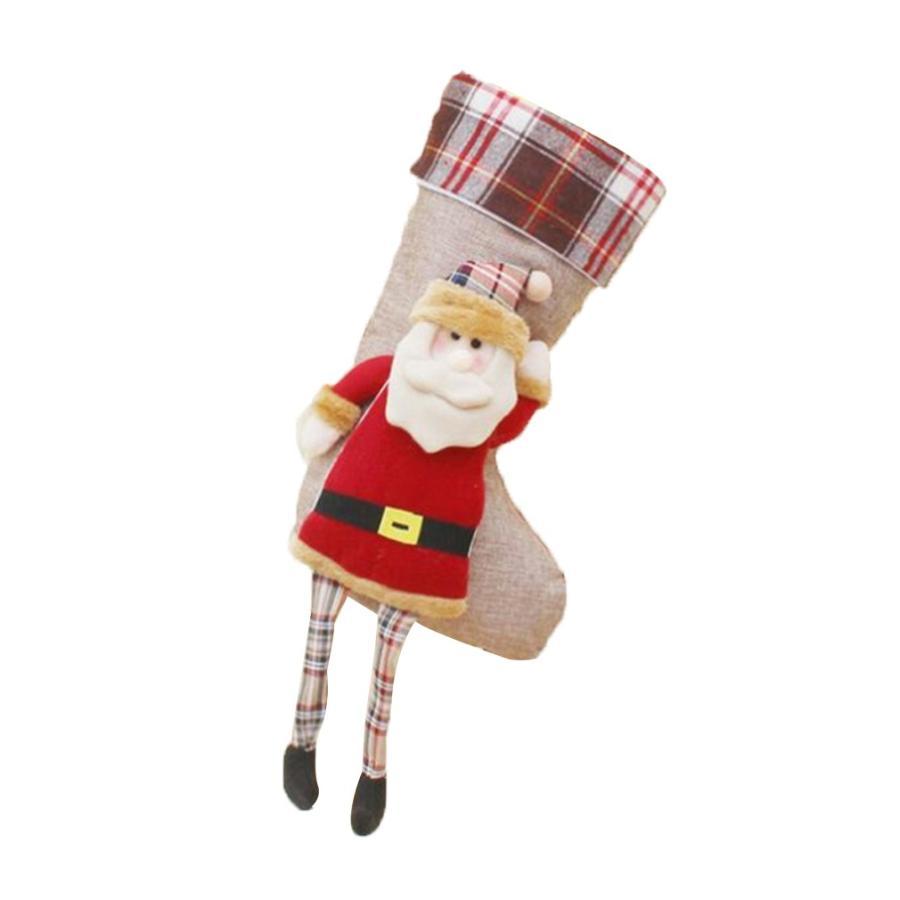 クリスマスブーツ プレゼント袋 サンタ トナカイ ラッピング 雪だるま 3種 お菓子袋 ソックス 靴下 キャンディ入れ ギフトバッグ|angelmimi|06