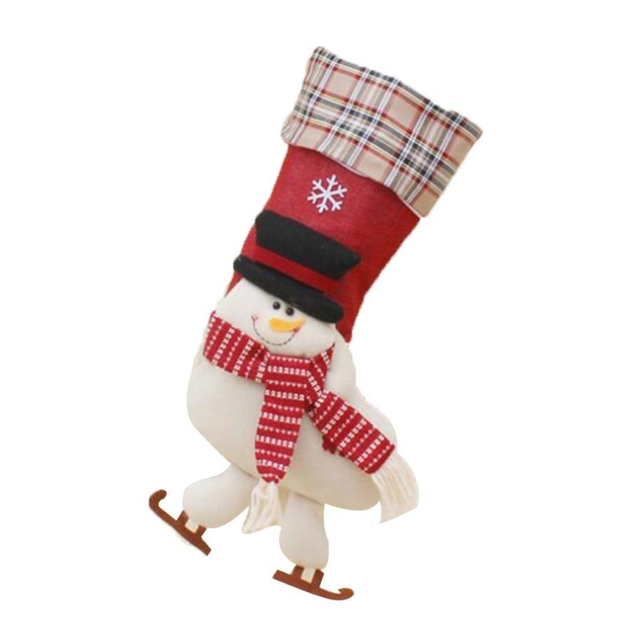 クリスマスブーツ プレゼント袋 サンタ トナカイ ラッピング 雪だるま 3種 お菓子袋 ソックス 靴下 キャンディ入れ ギフトバッグ|angelmimi|07