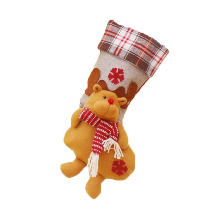 クリスマスブーツ プレゼント袋 サンタ トナカイ ラッピング 雪だるま 3種 お菓子袋 ソックス 靴下 キャンディ入れ ギフトバッグ|angelmimi|08
