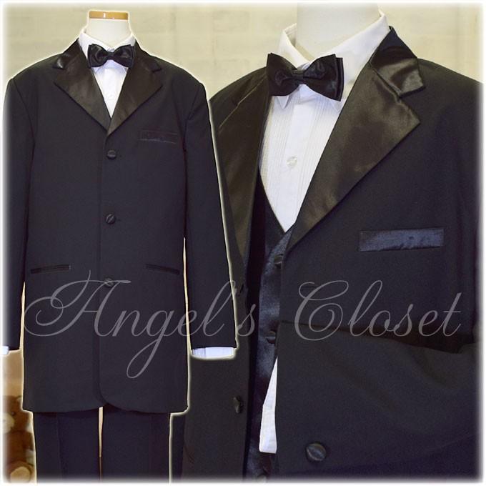 子供ドレスのAngel'sCloset/ジュニアタキシード5点セット(ベスト付き)CC4003Y(155cm〜170cm)
