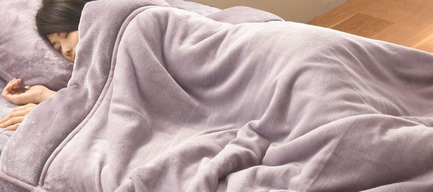 あったかさをためこむ4層毛布
