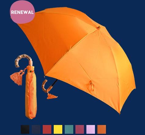 WAKAO バンブーハンドル 折りたたみレイン傘/アンジェ別注カラー