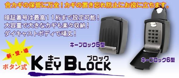 大容量小型キーボックス【キーブロック】