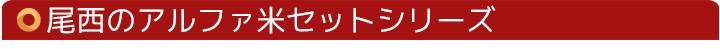 尾西アルファ米セットシリーズ
