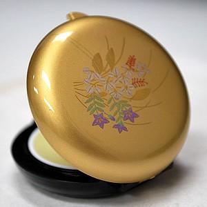 長川仁三郎商店・・・練り香水「和香古今」秋草柄の香合と紺の小袋セット