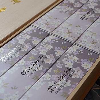 淡墨の桜 短寸サック6箱入/桐箱