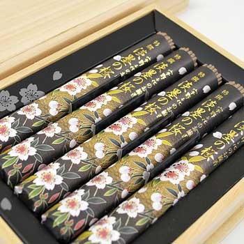特撰淡墨の桜 短寸5把入/桐箱