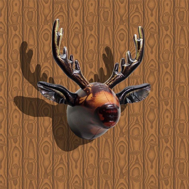 ビニールムースヘッド ムース 鹿 シカ 剥製 はく製 ヘラジカ 飾り デコレーション 頭 動物 ウォールアート ウォールデコレーション 壁掛け