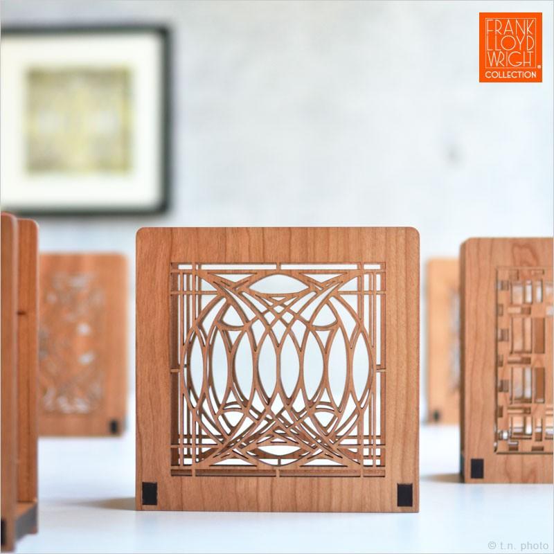 フランクロイドライト ウッドナプキンホルダー Frank Lloyd Wright キッチン テーブルアクセサリー レターホルダー 手紙 オフィス 建築 FLW フランク・ロイド・ライト