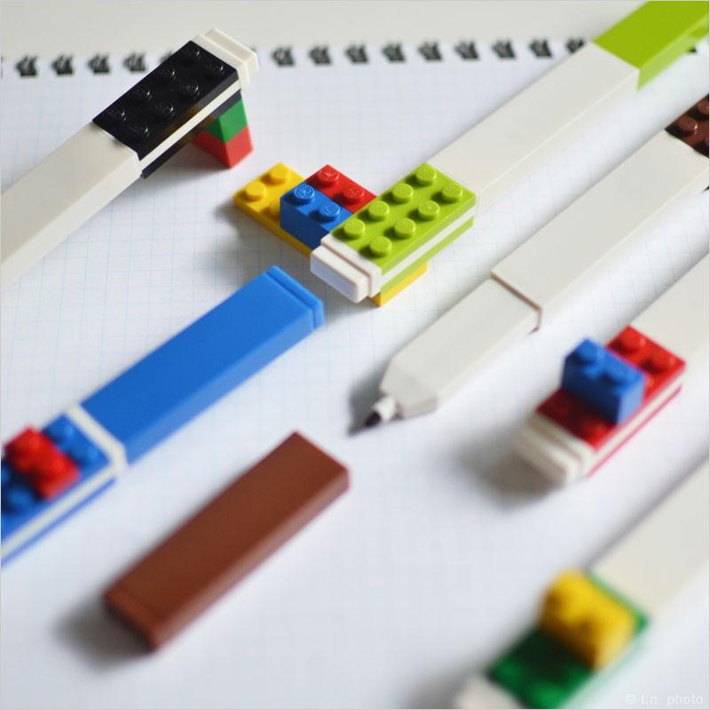 LEGO カラーサインペン 9色セット 9本セット セット 文房具 プレゼント おもしろ おしゃれ サインペンでイラスト レゴブロック legoブロック ステーショナリー 文具 筆記用具 ペン