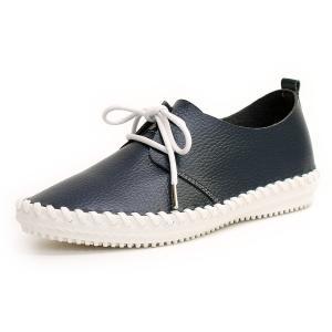 フラットシューズ  靴 レディース 歩きやすい レースアップ アンナコレクション|antelope|09