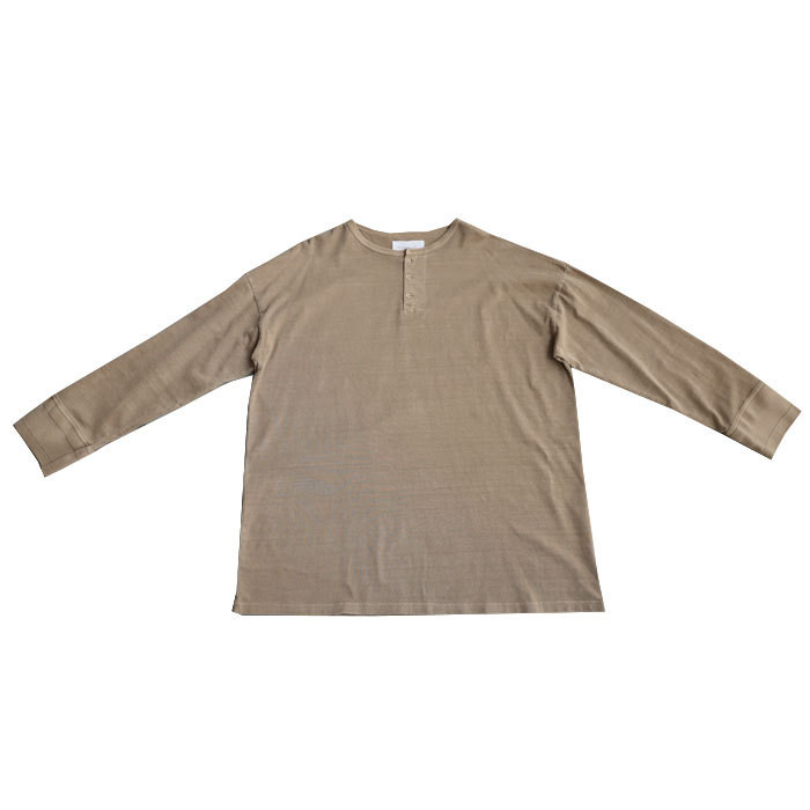 ヘンリーネックバスクT ロンT Tシャツ メンズ 長袖 綿・再再販。メール便不可 antiqua 24