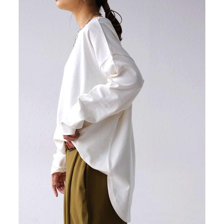 オーガニックコットンバスクT レディース トップス 長袖 綿・再再販。メール便不可|antiqua|22