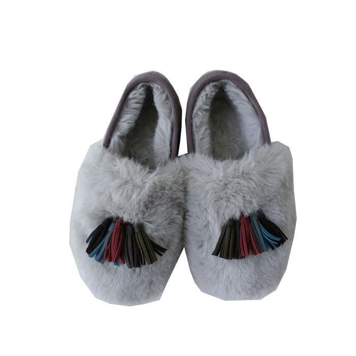 靴 モカシン ファー オリジナル タッセル付き極ふわファーシューズ 送料無料・再販。メール便不可|antiqua|22