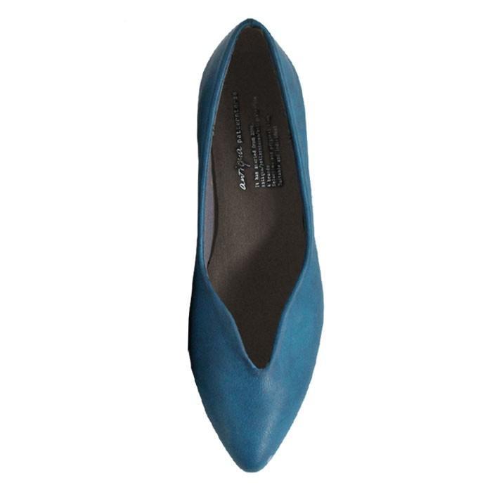 靴 合皮 パンプス オイル調 涙型 ティアドロップパンプス・再再販。メール便不可 母の日 antiqua 24