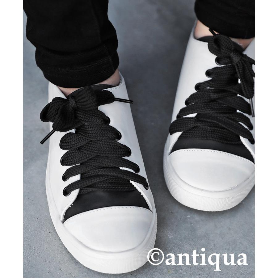 靴 シューズ スニーカー レディース 軽い 柔らかい バイカラースニーカー 送料無料・4月20日0時〜再再販。メール便不可|antiqua|14