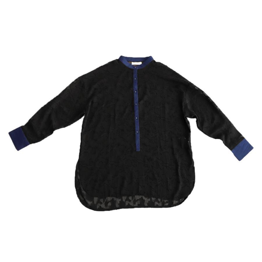 花柄シアーシャツ シャツ レディース トップス 柄 送料無料・再再販。メール便不可 antiqua 17