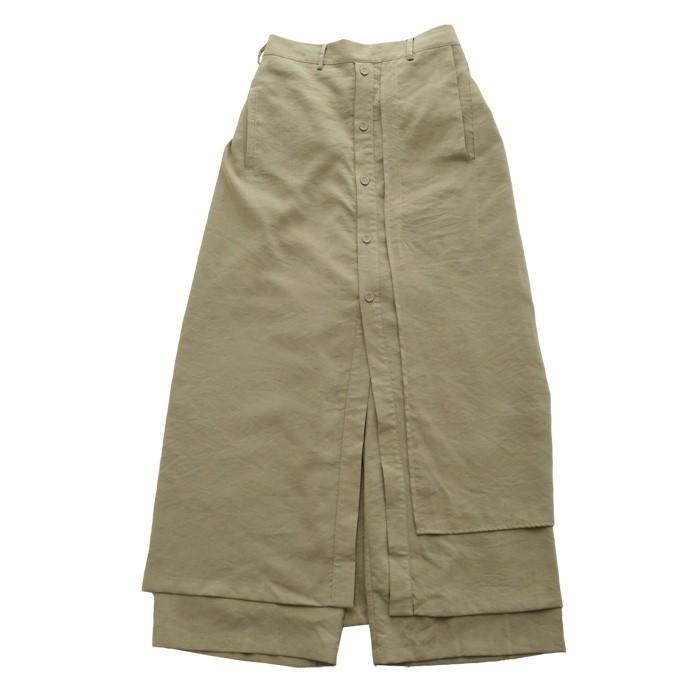 まるでスカートのような上品な佇まい。デザインワイドパンツ 送料無料・再再販。メール便不可 母の日|antiqua|21