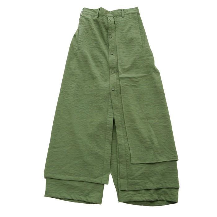 まるでスカートのような上品な佇まい。デザインワイドパンツ 送料無料・再再販。メール便不可 母の日|antiqua|22