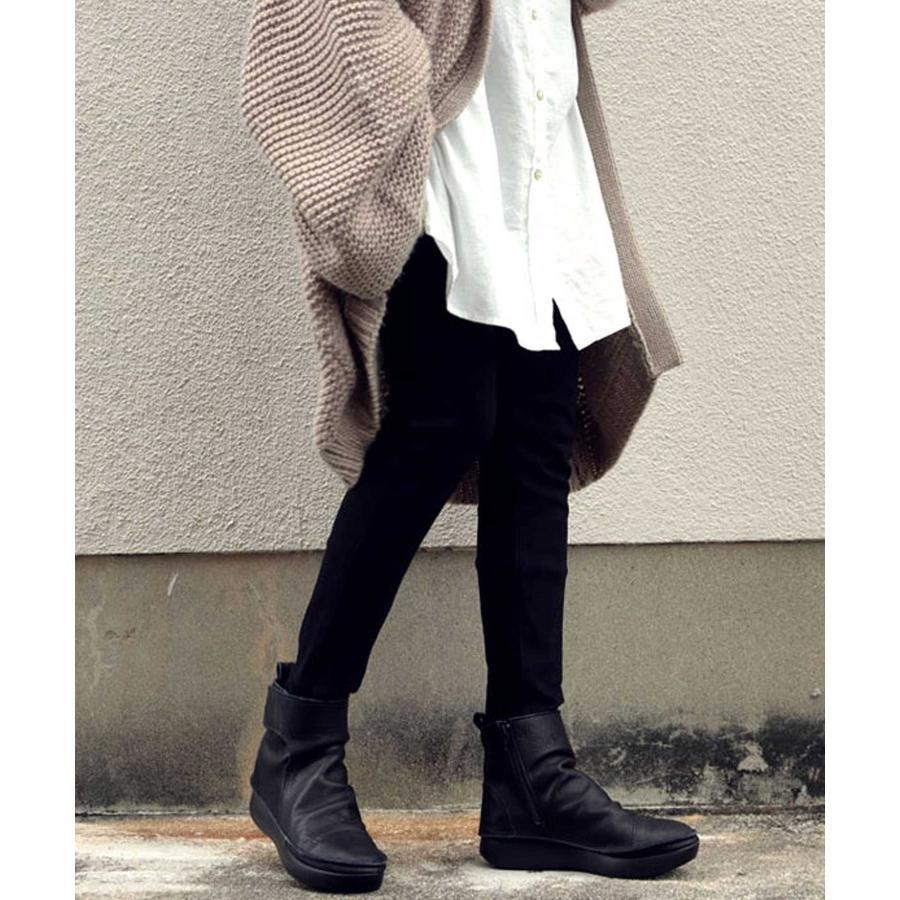 ブーツ レディース 本革 ショートブーツ 日本製 ジップアップ 厚底 送料無料・再販。メール便不可|antiqua|15