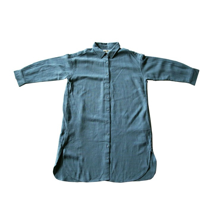 シャツ ワンピース キッズ 麻レーヨン 風合い・再再販。メール便不可TOY antiqua 24