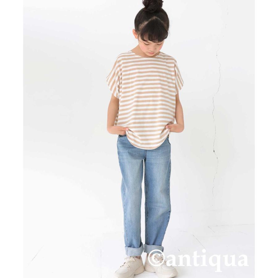 キッズ 男の子 女の子 綿100% トップス ダンス衣装 半袖 ・3月25日0時〜再再販。新色追加 ボーダードルマントップス30ptメール便可TOY|antiqua|18