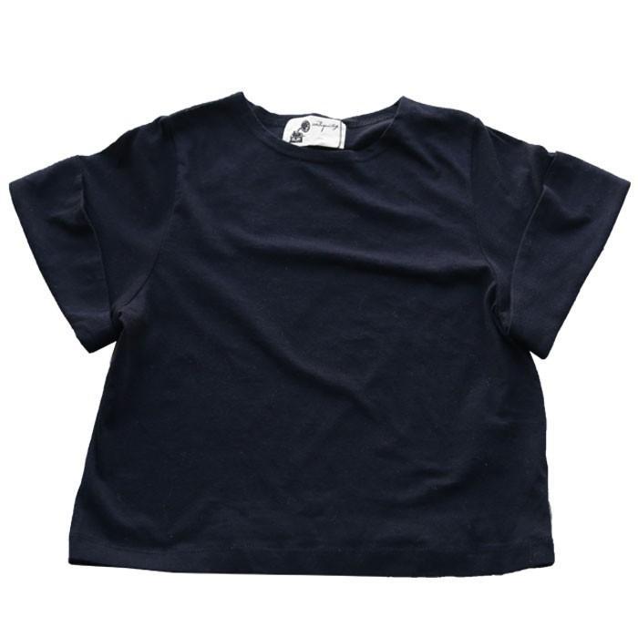 キッズトップス トップス プルオーバー Tシャツ 折返しスリーブデザインTシャツ・再再販。メール便不可TOY|antiqua|25