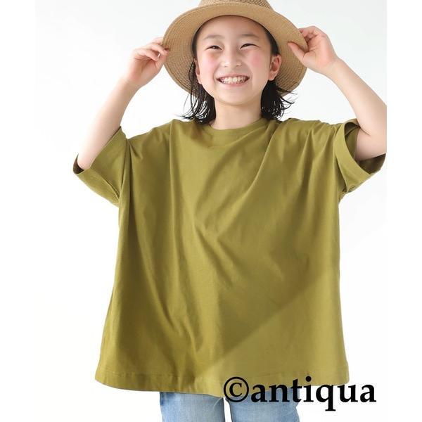 Tシャツ キッズ 綿100% カットソー 無地 アンティカ・3月30日0時〜再再販。メール便不可 TOY|antiqua|23